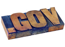 Dot gov - government internet domain Stock Photography