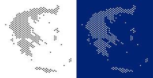 Dot Greece Map illustration libre de droits