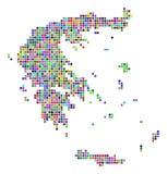 Dot Greece Map multicolore illustration libre de droits
