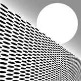 Dot Grid Geometirc Perspective Stock Photos