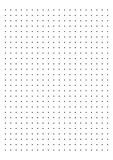 Dot Grid Paper grafpapper 1 cm på den vita bakgrundsvektorn stock illustrationer