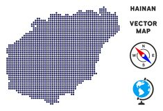 Dot Hainan Island Map royalty-vrije illustratie
