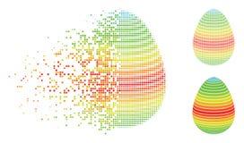 Dot Halftone Abstract Egg Spectrum endommagé barre l'icône Illustration Stock