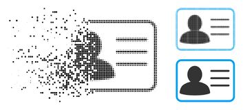 Dot Halftone Account Card Icon endommagé illustration libre de droits