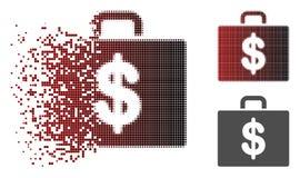Dot Halftone Accounting Case Icon dispersé Illustration Stock