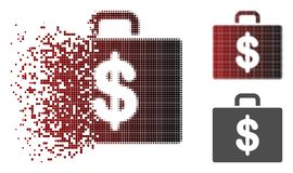 Dot Halftone Accounting Case Icon disperso Stock de ilustración