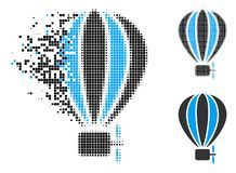 Dot Halftone Aerostat Balloon Icon en mouvement illustration libre de droits