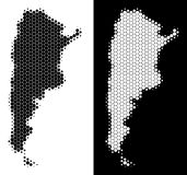 Dot Halftone Argentina Map illustration de vecteur