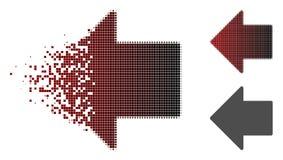 Dot Halftone Arrow Left Icon tagliuzzato illustrazione di stock