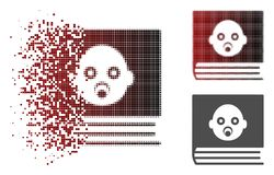 Dot Halftone Baby Album Icon déchiqueté illustration de vecteur