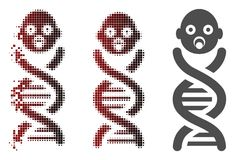 Dot Halftone Baby Genes Icon de dissolution illustration stock