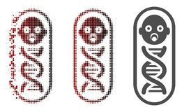 Dot Halftone Baby Genome Icon endommagé illustration libre de droits