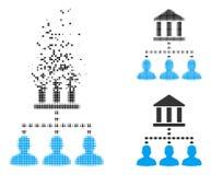 Dot Halftone Bank Building Client déchiqueté lie l'icône illustration libre de droits