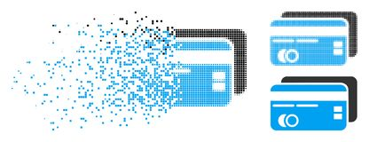 Dot Halftone Bank Cards Icon de dissolution illustration de vecteur