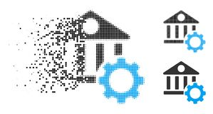 Dot Halftone Bank Options Icon dispersé illustration de vecteur