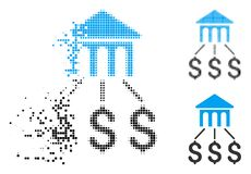 Dot Halftone Bank Structure Icon décomposé illustration stock
