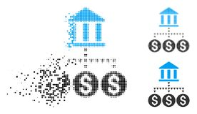 Dot Halftone Bank Structure Icon rompu illustration de vecteur