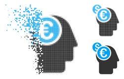 Dot Halftone Banker Icon dispersé illustration libre de droits