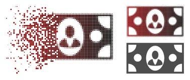 Dot Halftone Banknote Icon destrozado libre illustration