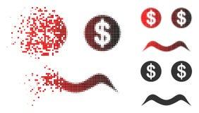 Dot Halftone Bankrupt Smiley Icon en mouvement illustration stock