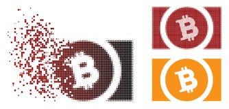 Dot Halftone Bitcoin Cash Icon tagliuzzato Royalty Illustrazione gratis