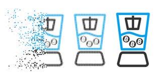 Dot Halftone Bitcoin Mixer Icon muoventesi Royalty Illustrazione gratis