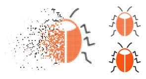 Dot Halftone Bug Icon destrozado libre illustration