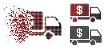 Dot Halftone Cash Delivery Icon endommagé illustration libre de droits