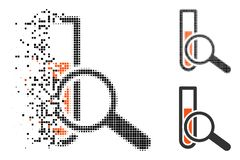 Dot Halftone Chemical Test Icon quebrado stock de ilustración