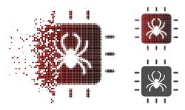 Dot Halftone Chip Bug Icon dañado libre illustration
