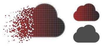 Dot Halftone Cloud Icon dispersé illustration de vecteur