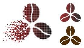 Dot Halftone Coffee Beans Icon dispersé illustration de vecteur