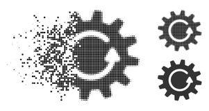 Dot Halftone Cogwheel Rotation Icon dissolto royalty illustrazione gratis