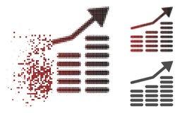 Dot Halftone Coins Diagram Icon dispersé illustration de vecteur