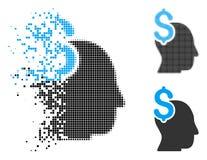 Dot Halftone Commercial Intellect Icon spezzettato royalty illustrazione gratis