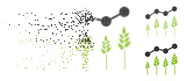 Dot Halftone Crop Analytics Icon dissipato illustrazione di stock