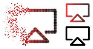 Dot Halftone Data Entry Icon en mouvement Illustration Libre de Droits