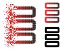 Dot Halftone Database Icon de dissolution illustration libre de droits