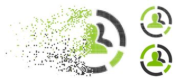 Dot Halftone Demography Diagram Icon déchiqueté illustration stock