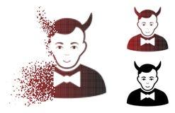 Dot Halftone Devil Icon de dissolution illustration libre de droits