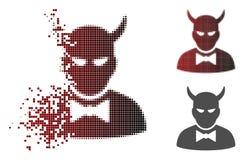 Dot Halftone Devil Icon endommagé illustration libre de droits