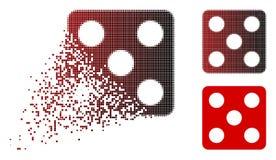 Dot Halftone Dice Icon de disparition Illustration de Vecteur