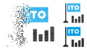 Dot Halftone dissous ITO Bar Chart Icon illustration stock