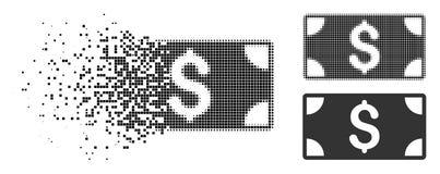 Dot Halftone Dollar Banknote Icon disuelto stock de ilustración