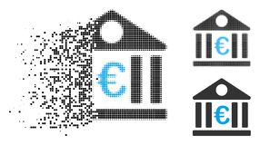 Dot Halftone Euro Bank Icon de dissolution illustration de vecteur