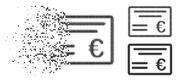 Dot Halftone Euro Cheque Icon de disparition illustration libre de droits