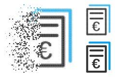Dot Halftone Euro Invoices Icon de dissolution Illustration Libre de Droits