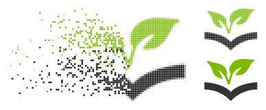 Dot Halftone Flora Knowledge Icon muoventesi royalty illustrazione gratis