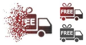 Dot Halftone Free Delivery Icon détruit illustration libre de droits