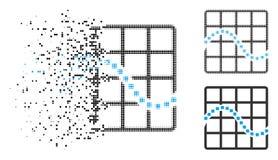 Dot Halftone Function Chart Icon de dissolution illustration stock